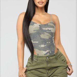 Fashion Nova  camo body suit NEW W TAGS